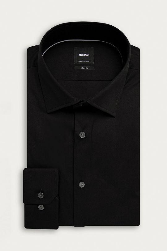 czarny Strellson - Koszula Męski