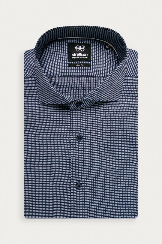 modrá Strellson - Bavlněné tričko Pánský
