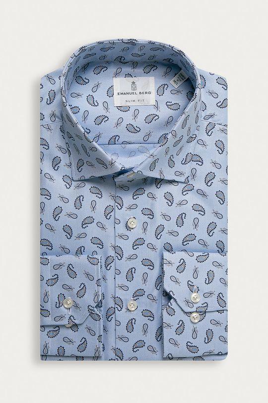 modrá Emanuel Berg - Bavlnená košeľa Pánsky
