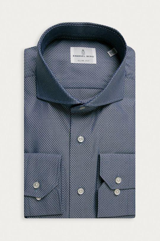 tmavomodrá Emanuel Berg - Bavlnená košeľa Pánsky