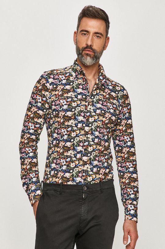 multicolor Emanuel Berg - Koszula bawełniana Męski