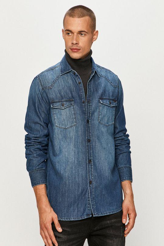 bleumarin Mustang - Camasa jeans De bărbați