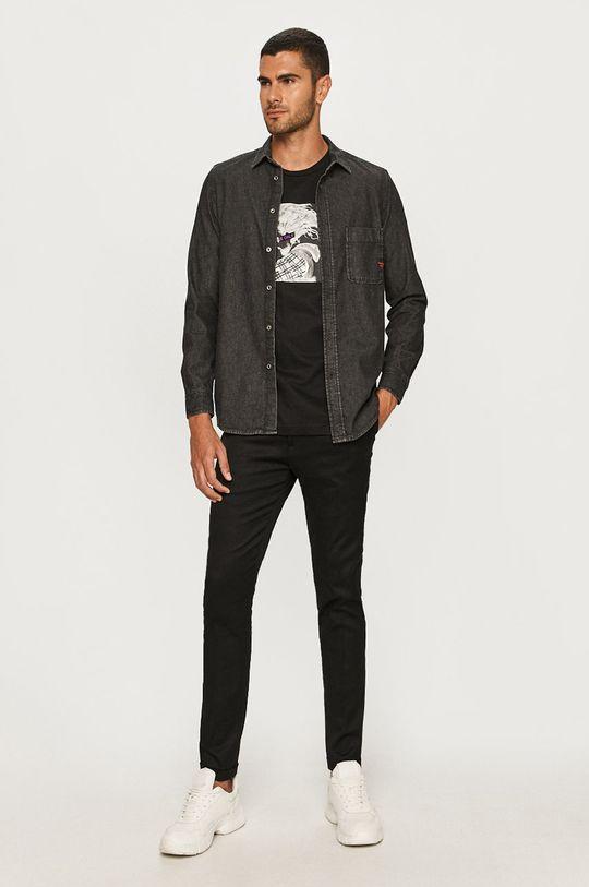 Diesel - Koszula jeansowa 100 % Bawełna