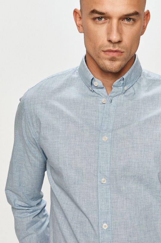 světle modrá Tom Tailor - Bavlněné tričko Pánský