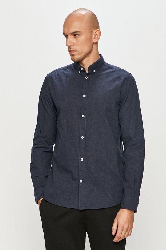 tmavomodrá Tom Tailor - Bavlnená košeľa Pánsky