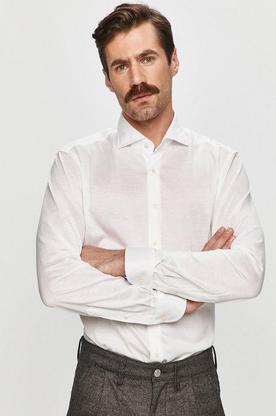 bílá Baldessarini - Bavlněné tričko Pánský