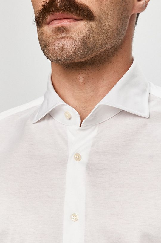Baldessarini - Bavlněné tričko bílá