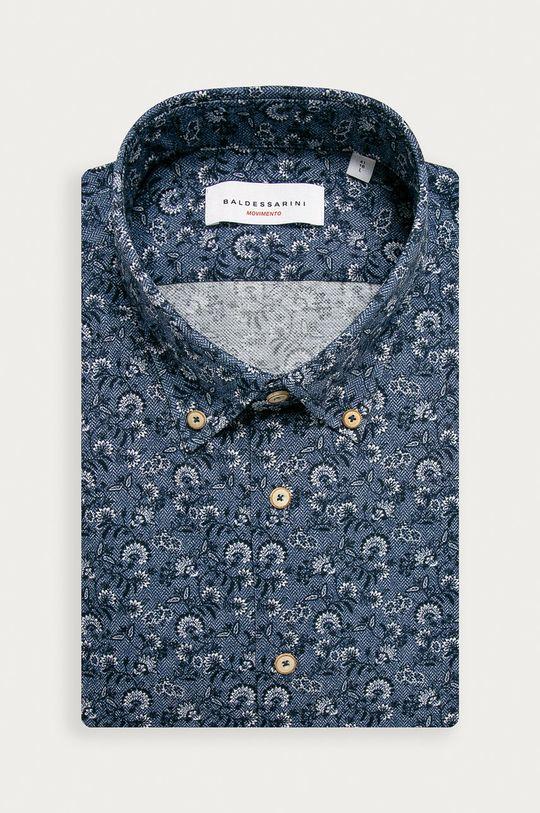 oceľová modrá Baldessarini - Bavlnená košeľa Pánsky