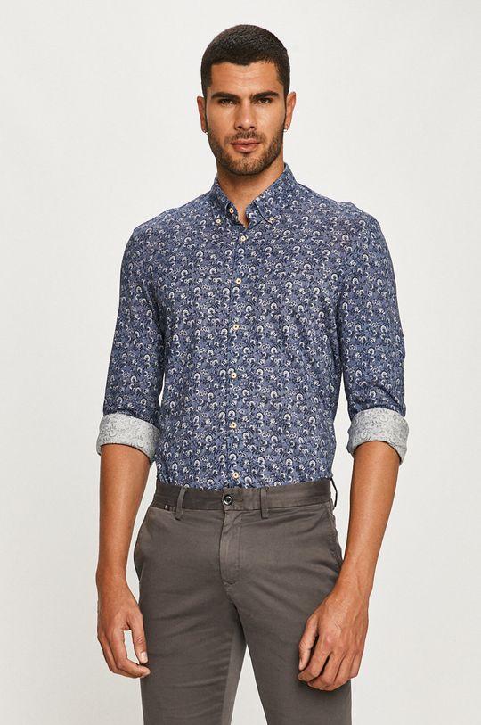 Baldessarini - Bavlnená košeľa oceľová modrá