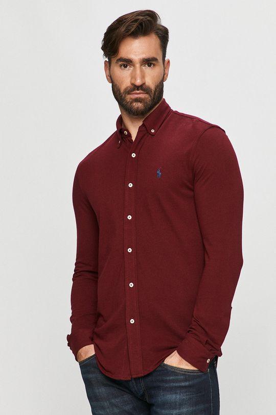 kaštanová Polo Ralph Lauren - Bavlněné tričko Pánský