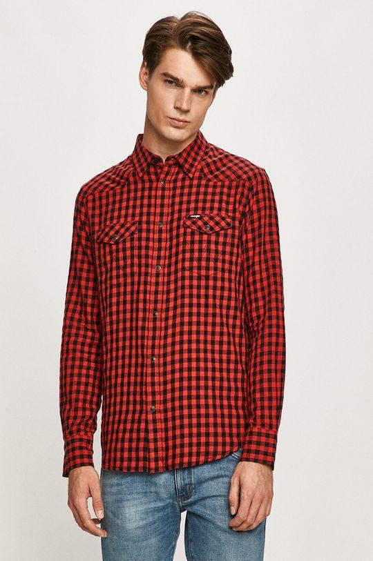 červená Wrangler - Bavlnená košeľa Pánsky