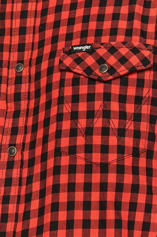 Wrangler - Bavlnená košeľa červená