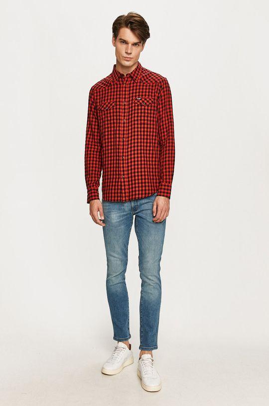 Wrangler - Bavlnená košeľa  100% Bavlna
