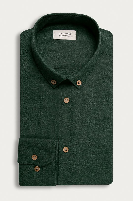 hnedozelená Tailored & Originals - Košeľa Pánsky