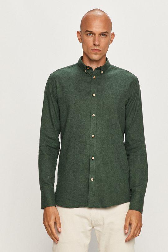 Tailored & Originals - Košeľa hnedozelená