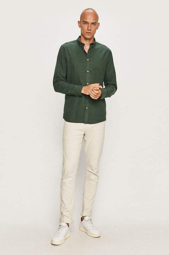 hnedozelená Tailored & Originals - Košeľa