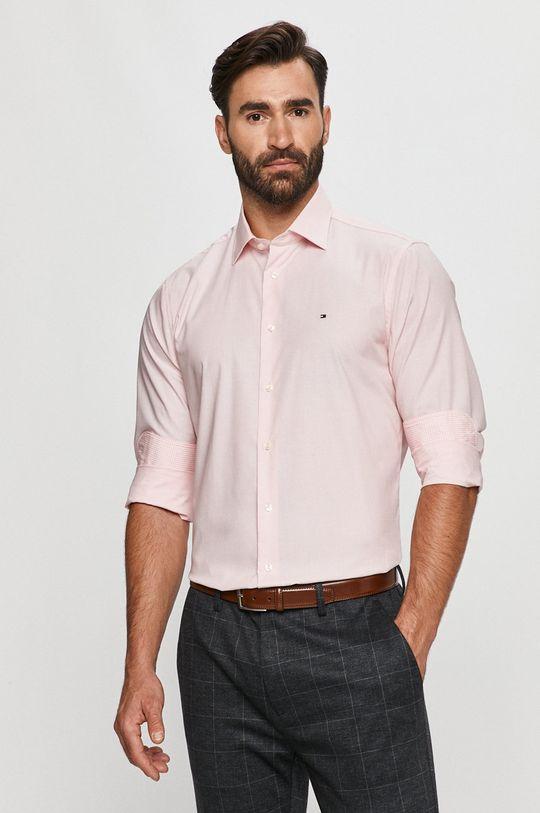 roz Tommy Hilfiger Tailored - Camasa din bumbac De bărbați