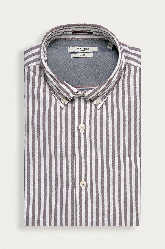 mahagonová Premium by Jack&Jones - Bavlněné tričko Pánský