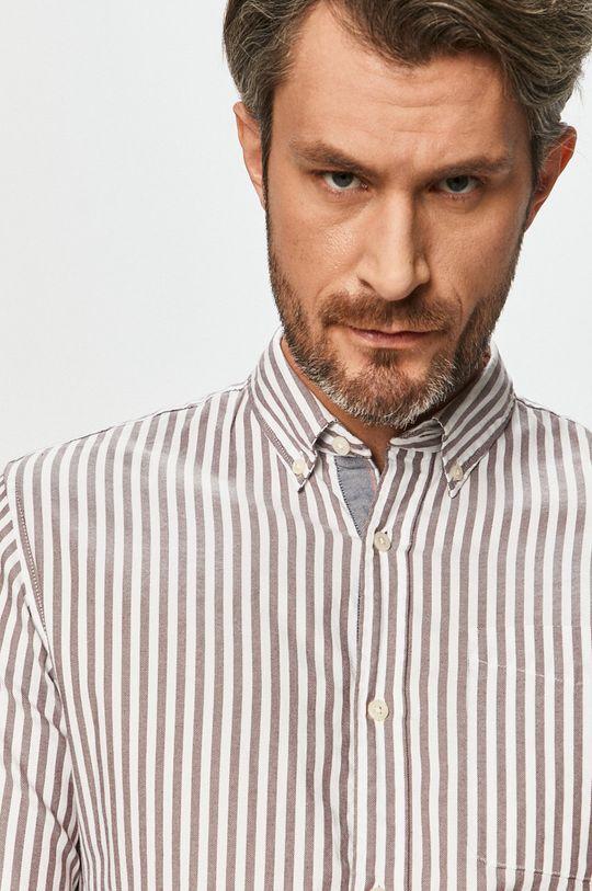 Premium by Jack&Jones - Bavlněné tričko mahagonová