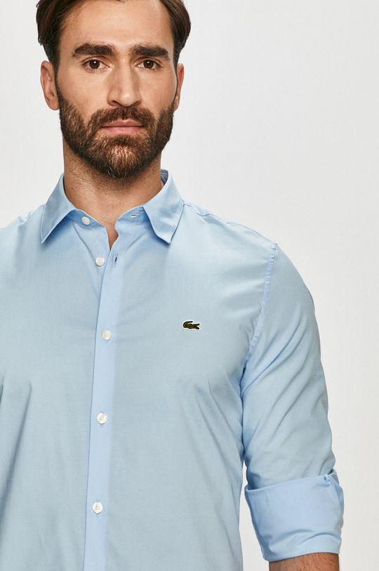 světle modrá Lacoste - Bavlněné tričko Pánský