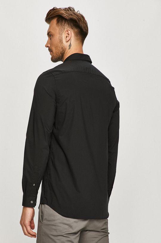 czarny Lacoste - Koszula bawełniana