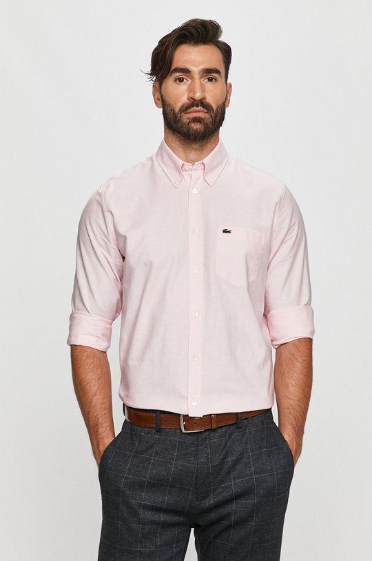 pastelowy różowy Lacoste - Koszula bawełniana Męski