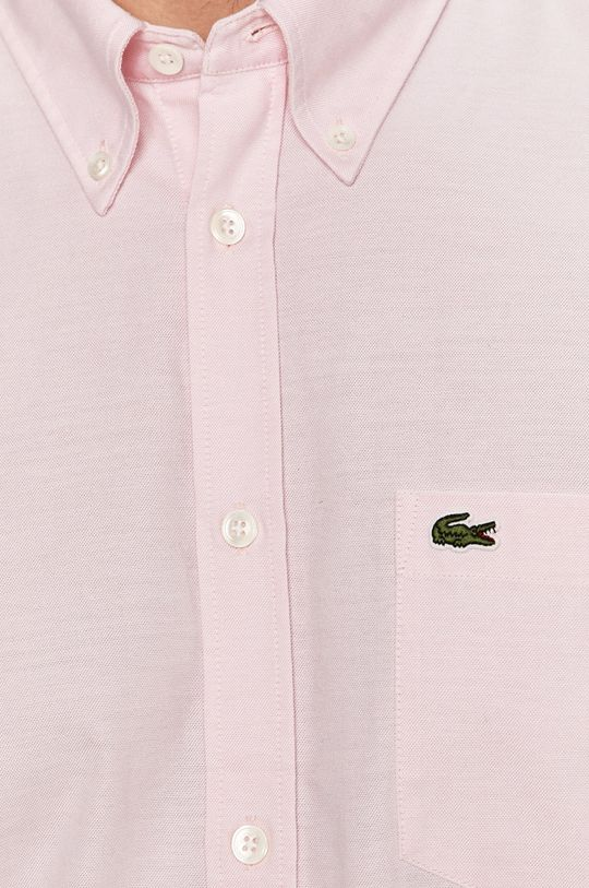 Lacoste - Koszula bawełniana pastelowy różowy