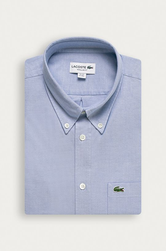 světle modrá Lacoste - Bavlněná košile Pánský
