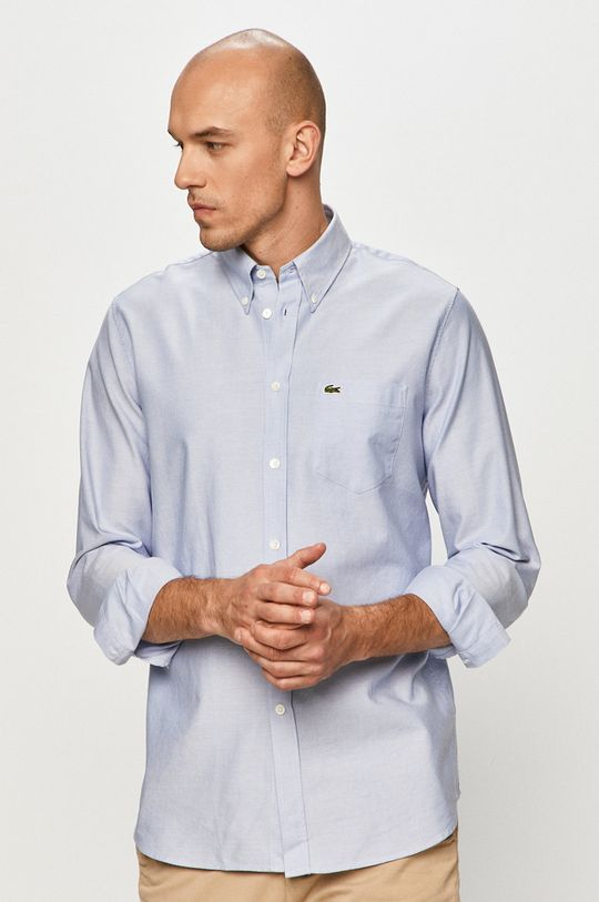 Lacoste - Bavlněná košile světle modrá