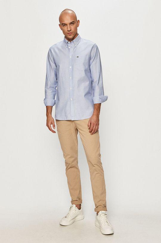 světle modrá Lacoste - Bavlněná košile