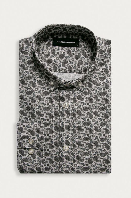 sivá Clean Cut Copenhagen - Bavlnená košeľa Pánsky