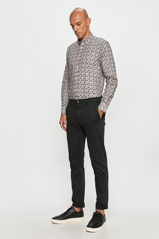 sivá Clean Cut Copenhagen - Bavlnená košeľa