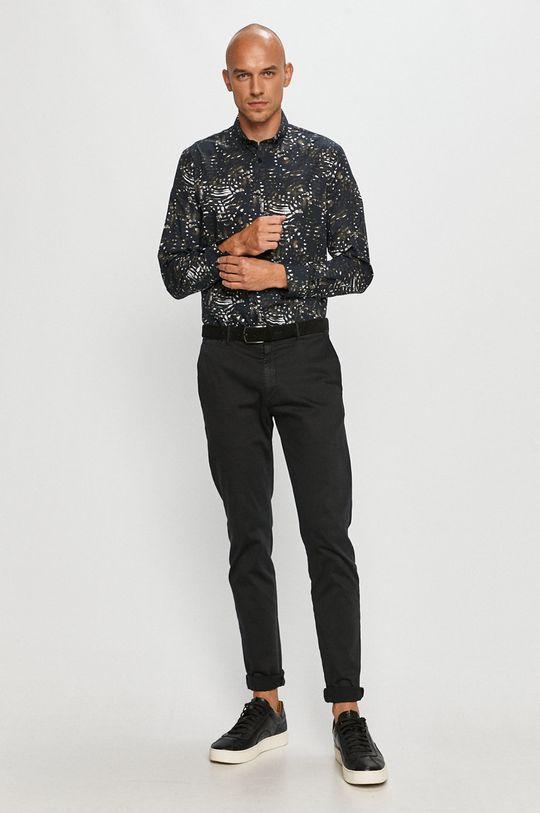 tmavomodrá Clean Cut Copenhagen - Bavlnená košeľa