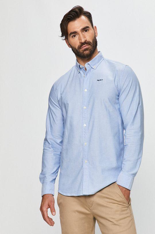 kék Pepe Jeans - Pamut ing Schar Ro Férfi