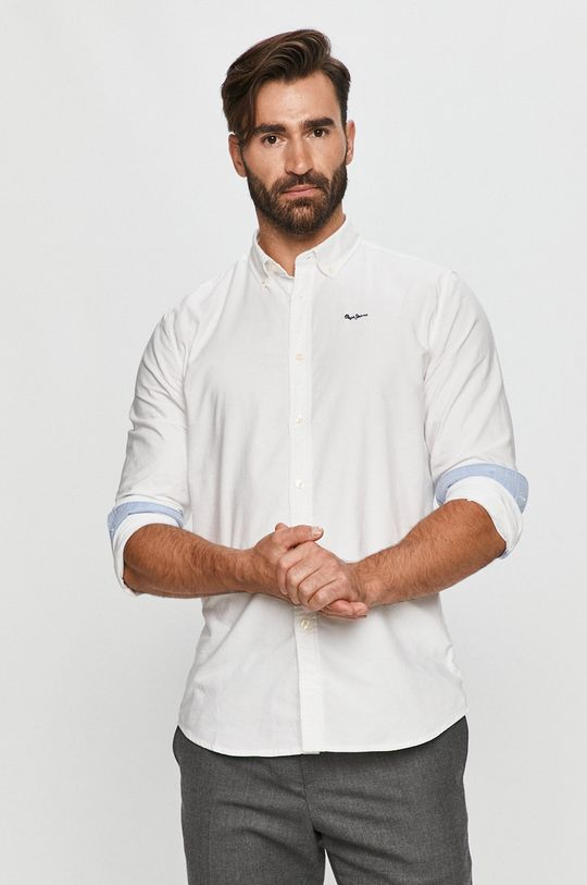 fehér Pepe Jeans - Pamut ing Schar Ro Férfi