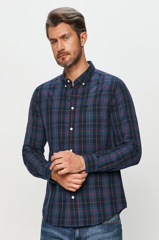 námořnická modř Wrangler - Bavlněné tričko Pánský