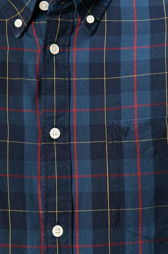 Wrangler - Bavlněné tričko námořnická modř