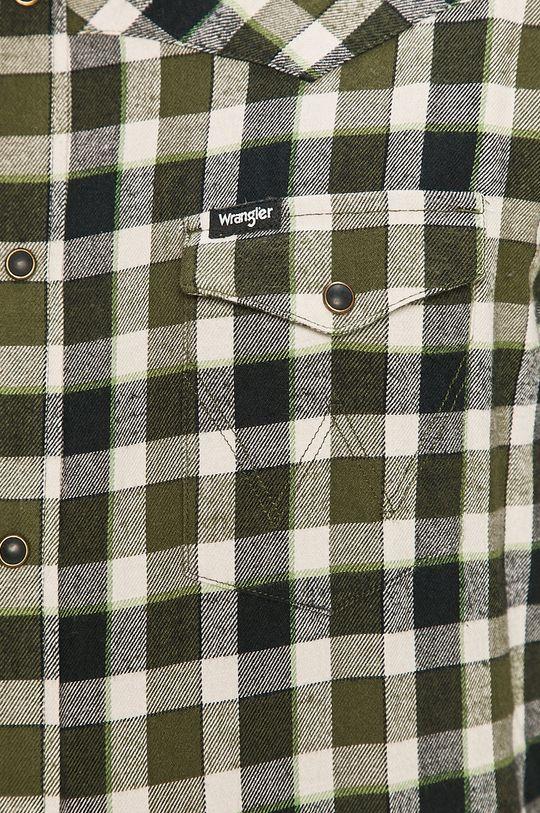 Wrangler - Bavlněné tričko olivová