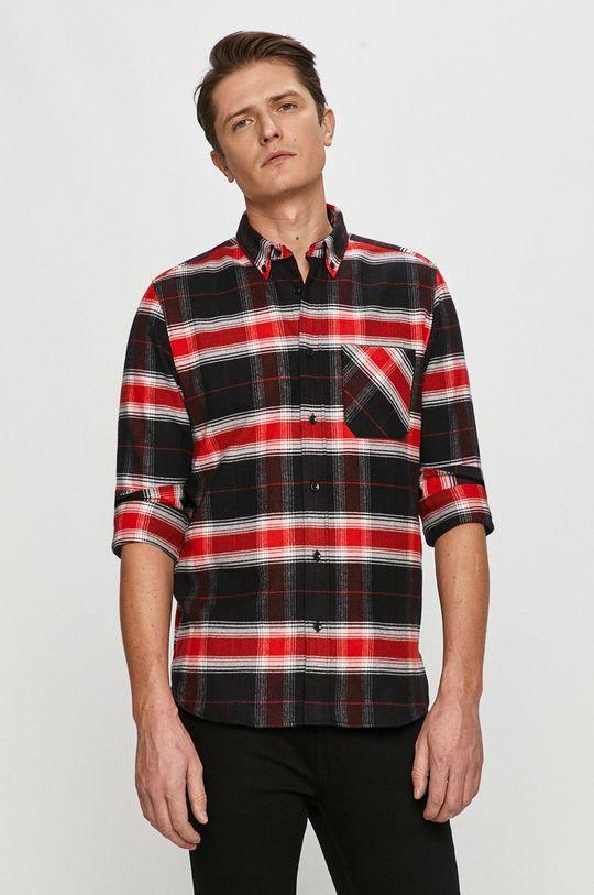 červená Hugo - Bavlněné tričko Pánský