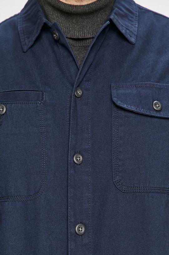 Jack & Jones - Bavlnená košeľa tmavomodrá