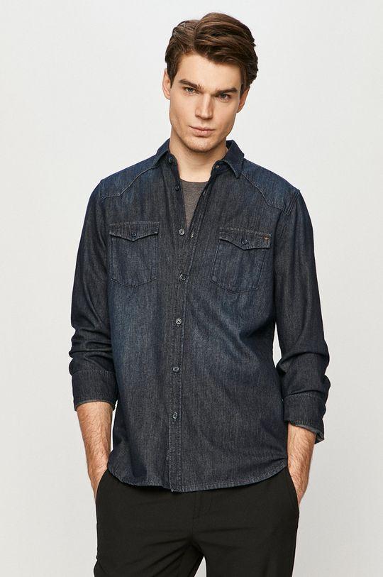 námořnická modř Mustang - Džínová košile Pánský