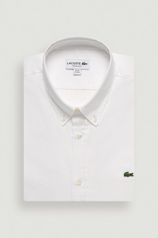 bílá Lacoste - Bavlněné tričko Pánský