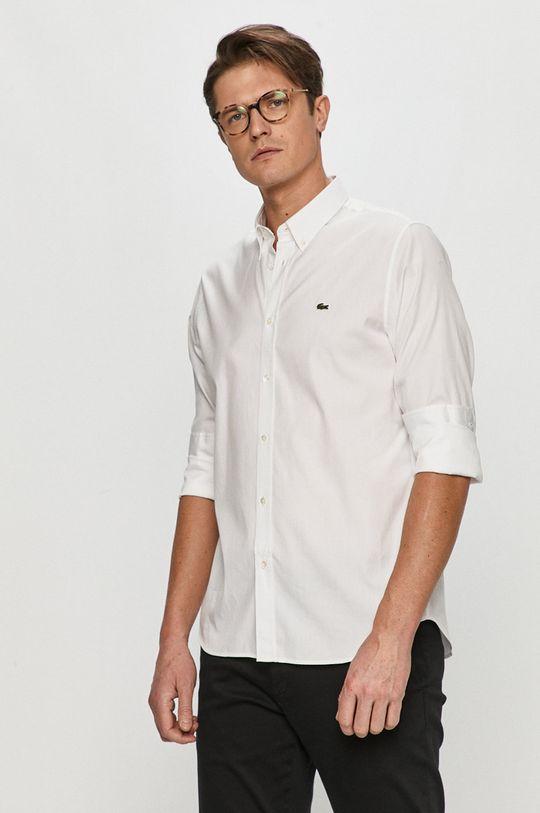 Lacoste - Bavlněné tričko bílá