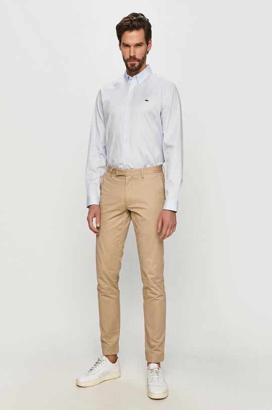 blady niebieski Lacoste - Koszula bawełniana