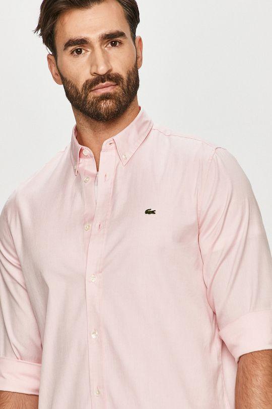 różowy Lacoste - Koszula bawełniana Męski