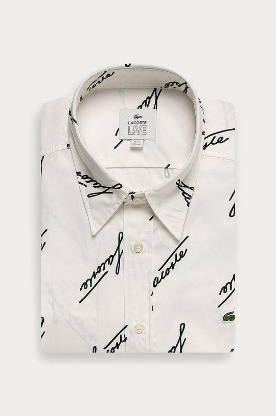biały Lacoste - Koszula bawełniana Męski