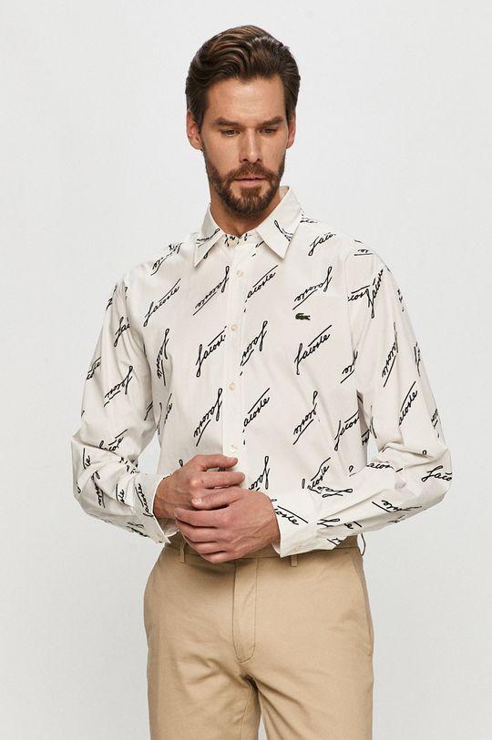 Lacoste - Koszula bawełniana biały