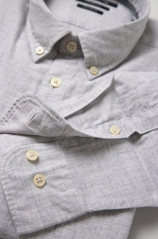 Marc O'Polo - Bavlněná košile světle šedá