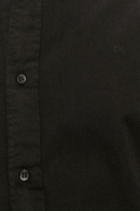 Calvin Klein - Koszula bawełniana czarny