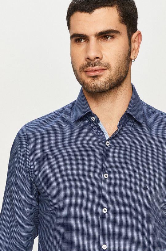 tmavomodrá Calvin Klein - Bavlnená košeľa Pánsky